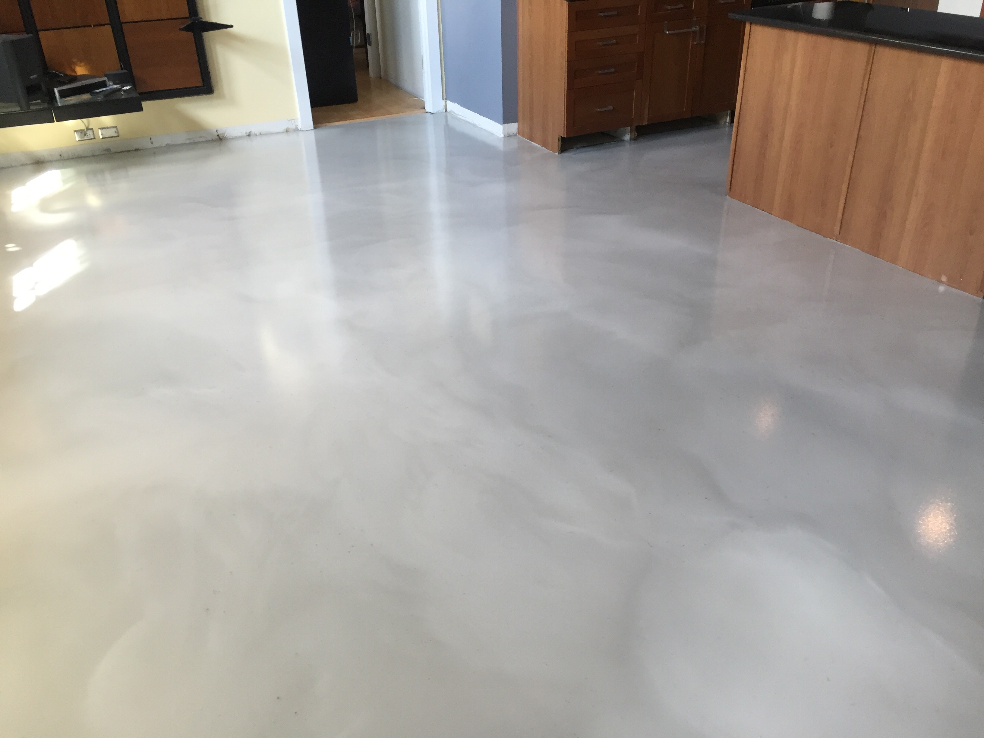 Metallic epoxy floor restoration in washington dc for Epoxy flooring